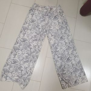 NY&Co Stretch Wide Leg Black and White Pants